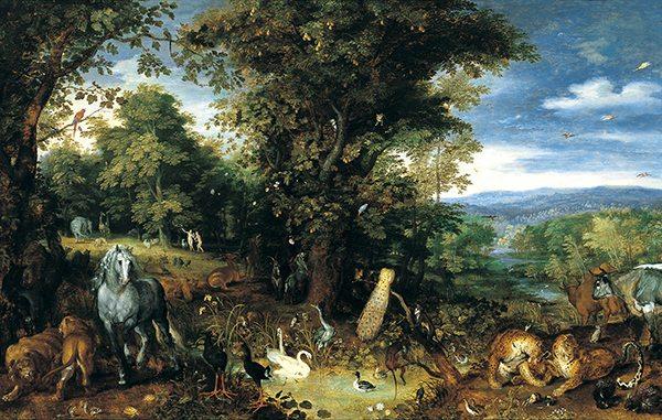 El Jardín del Edén de BRUEGHEL, Jan El Viejo
