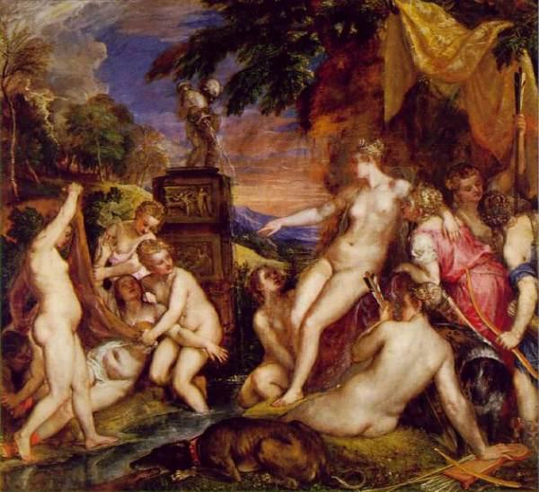 Diana y Calixto de Tiziano