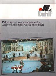 Folder Luhlf decorbouw met foto's 1-2-3 show (Kerst in Amsterdam 23-12-1983). Collectie Roland de Groot