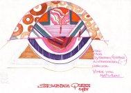 Decorontwerp voor Showbizzquiz (TROS, 1985), decor Roland de Groot. Collectie Roland de Groot