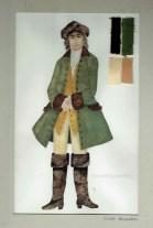 Kostuumontwerp voor Signor Evaristo uit De Waaier (Haagse Comedie, 1977). Ontwerp Hans Christiaan. Bron: Marjolein Sligte