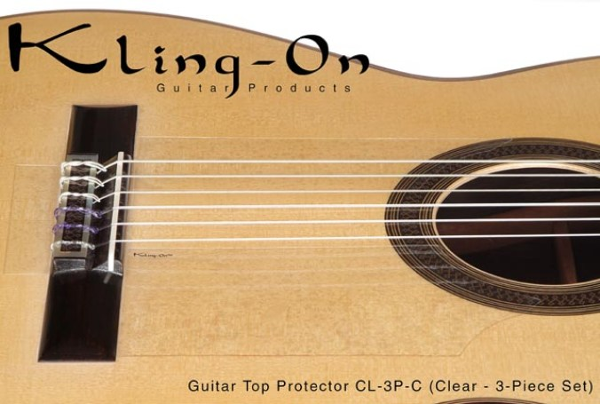 Kling On removable pickguard