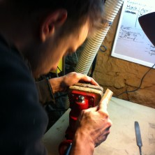 Shaping the New Fingerboard Ends