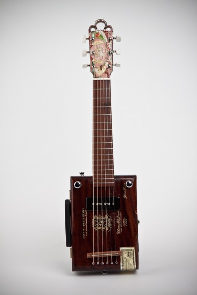 Cigar Box Guitar: Front View