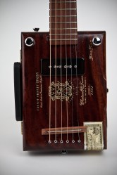 Cigar Box Guitar: Front View Detail