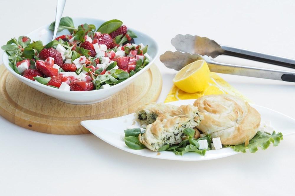 MEGGLE Ofen Schnecke mit Salat