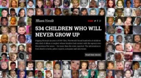 2 niños muertos por semana bajo la vigilancia del DCF de la Florida. Florida tiene el mayor número de niños asesinados bajo el cuidado del DCF en la nación. Tenemos que proteger a nuestros niños para salvar a nuestra nación.