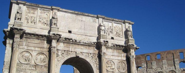 Arc de triomphe et colisée rome
