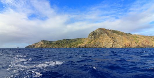 Pitcairn Island - a steep sided, luscious-green island rising out of the barren ocean like something out of Lord of the Rings. A deceptive sanctuary as it's so exposed to the sea and the elements that it's extremely difficult for boats to anchor here