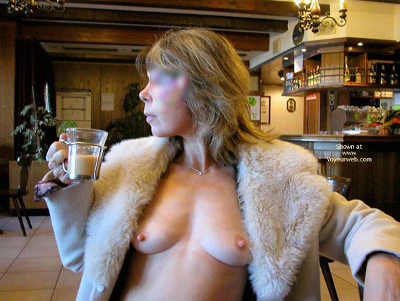 daughter exposed breast at dinner