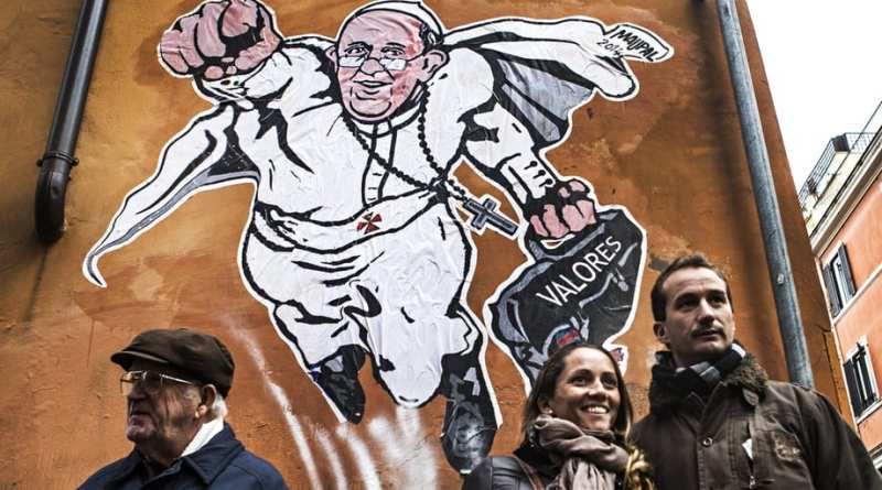 Pope Francis graffiti