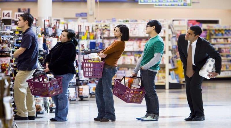 ¿Cuál es la fila más rápida del supermercado?
