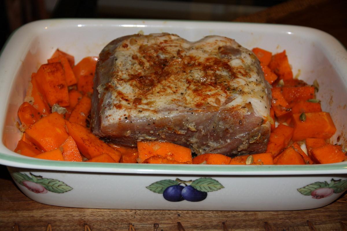 Свинина с тыквой в духовке рецепты с фото