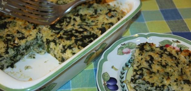 Итальянский рисовый пирог со шпинатом