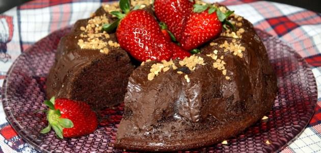 Двойной шоколадный пирог