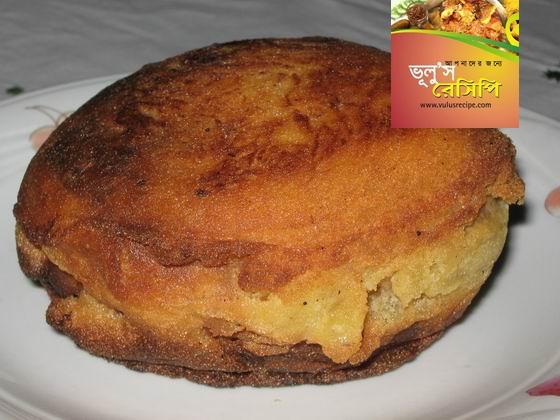 ডিমের বাহারি কেক (পিঠা)