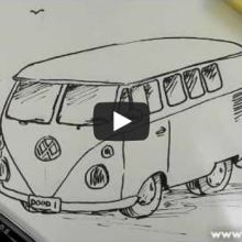 How to Draw a VW Camper