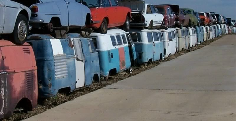 A Trip to the VW Bus Graveyard