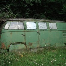 VW Bus Garden Shed