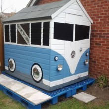VW Camper Garden Shed
