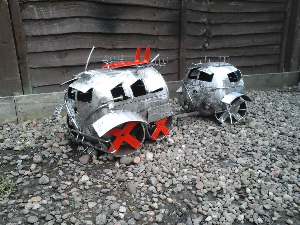 VW Camper Log Burner