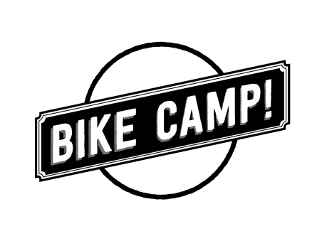 bike camp logo over transparent