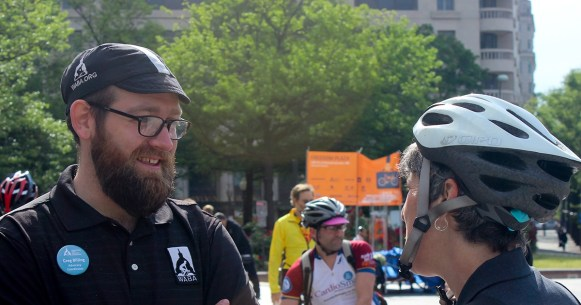 Greg Billing at Bike to Work Day 2015