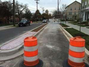 Parkview bike lane 1