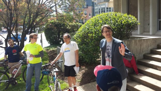 Councilmember Hans Riemer talks about the importance of low stress places to bike.