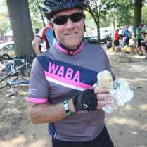 WABA member about to dig into a District Taco burrito! (Photo by Greg Billing)