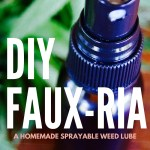 DIY FAUX-RIA: a Homemade Sprayable Cannabis Lube Recipe