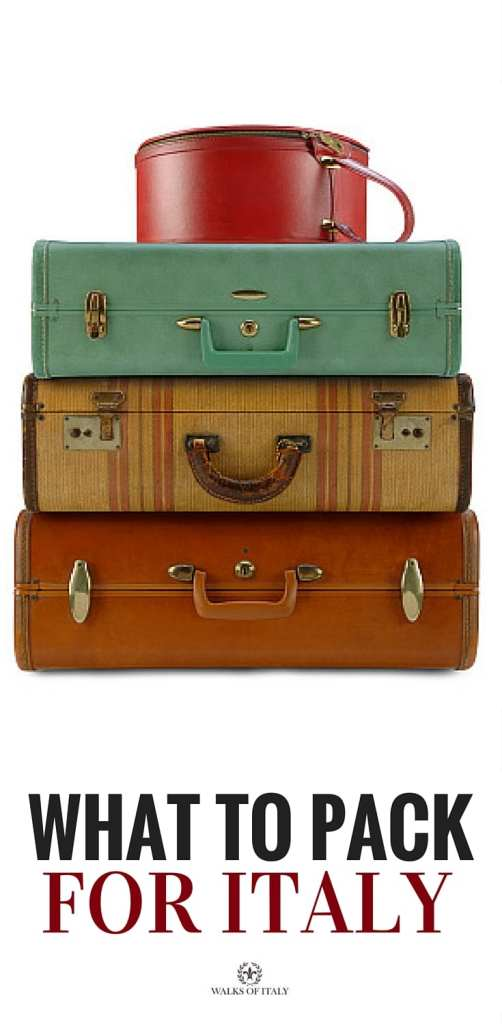 You don't need a stack of suitcases like these to go to Italy, you just need to pack smart. Find out how to pack for Italy!