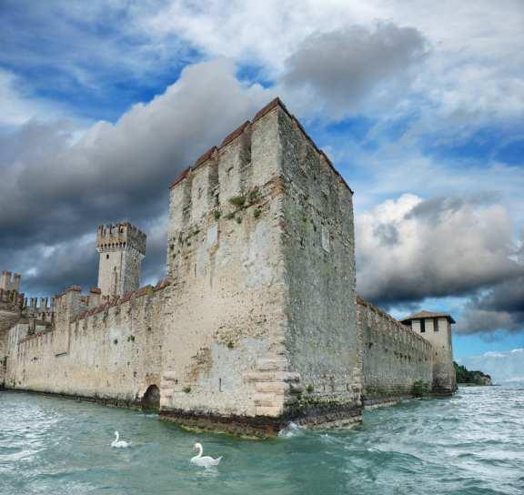 Scaligero castle in Lombardy, Italia