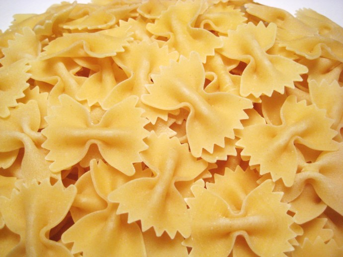 "Farfalle, or ""butterfly,"" pasta"