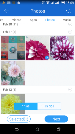 Send files vis ShareIt