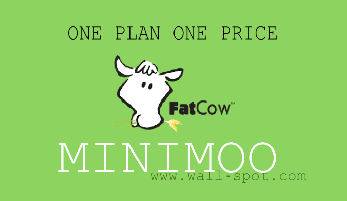 FatCow minimoo web hosting plan