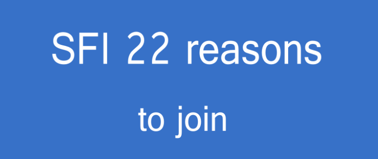 Reasons To Join SFI