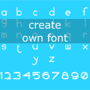 Create own font