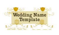 Wedding name decoration