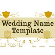 Wedding name decoration