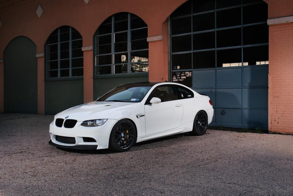 BMW M3 E92 White Wallpaper