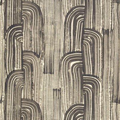 Kelly Wearstler Crescent by Lee Jofa - Ebony / Cream : Wallpaper Direct