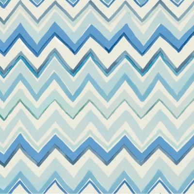 Zig Zag Multicoloured Blue Wallpaper   Zig Zag 41 W-03