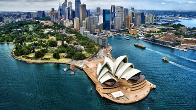 Download 1920x1080 Sydney Harbour, Australia, Buildings, Bird View, Opera House Wallpapers for ...