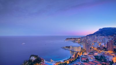 Blue Clouds Over The City Monaco Wallpaper Photos For Desktop Background Free : Wallpapers13.com