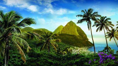 Beautiful Places Islands St Lucia, Caribbean Desktop Hd Wallpaper 5200x3250 : Wallpapers13.com