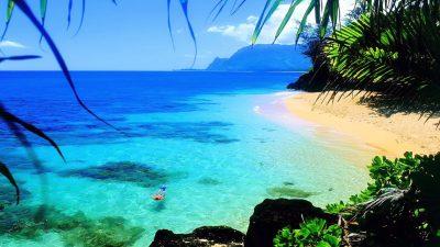 Ocean Hawaii Beach Beautiful Hd Wallpaper For Laptop : Wallpapers13.com