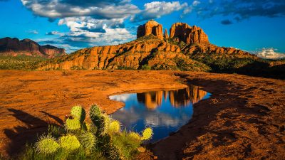 Landscape-Nature-Cathedral Rock in Sedona-Arizona-United States-Desktop Wallpaper HD free ...