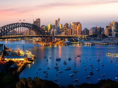 Sydney City New South Wales Australia Panorama Of The Port And Bridge In Sydney Desktop ...
