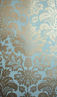 Download Teal And Gold Damask Wallpaper Gallery